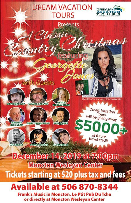 Dream Vacation Tours Present * A CLASSIC COUNTRY CHRISTMAS* Featuring Georgette Jones & special guests